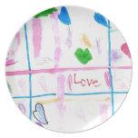 Amor y corazones platos
