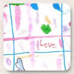 Amor y corazones posavaso