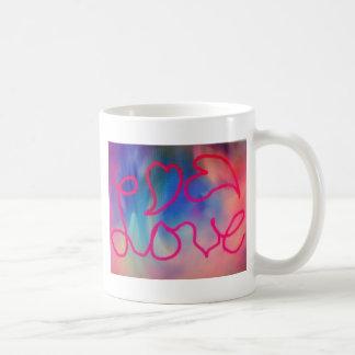 Amor y corazones taza de café