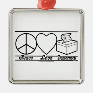 Amor y democracia de la paz adorno
