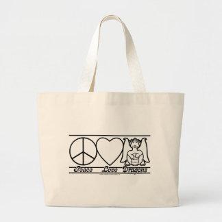Amor y dragones de la paz bolsa