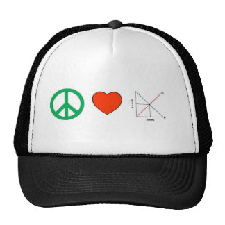 Amor y economía de la paz gorras