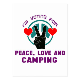 Amor y el acampar de la paz postal