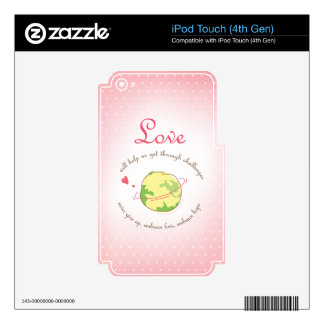 Amor y esperanza del abrazo calcomanía para iPod touch 4G