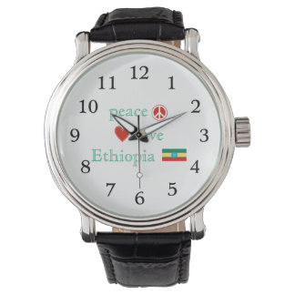 Amor y Etiopía de la paz Reloj