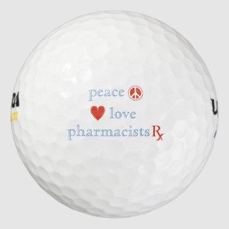 Amor y farmacéuticos de la paz pack de pelotas de golf