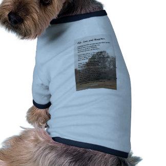 Amor y felicidad de la vida camisetas de mascota