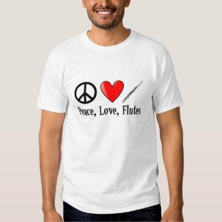 Amor y flautas de la paz poleras
