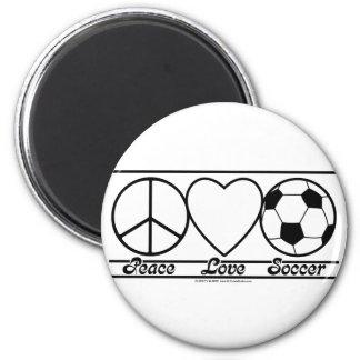 Amor y fútbol de la paz iman