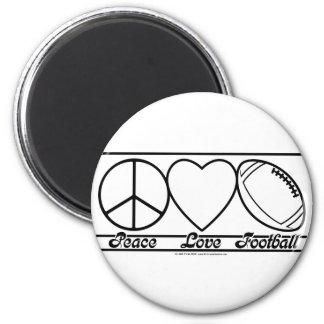 Amor y fútbol de la paz imán