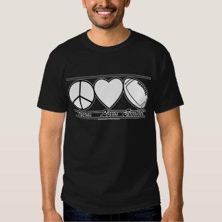 Amor y fútbol de la paz poleras