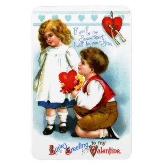 Amor y galán imán foto rectangular