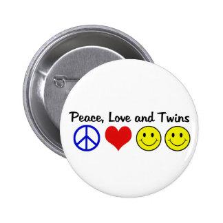 Amor y gemelos de la paz pin