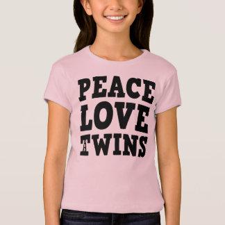 Amor y gemelos de la paz playeras