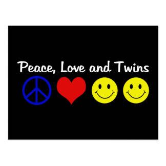 Amor y gemelos de la paz postal