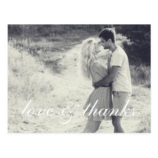 Amor y gracias - el boda le agradece observa la tarjetas postales