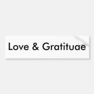 Amor y gratitud pegatina para auto