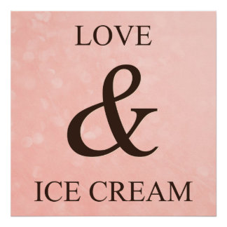 Amor y helado póster