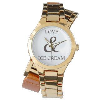 Amor y helado relojes