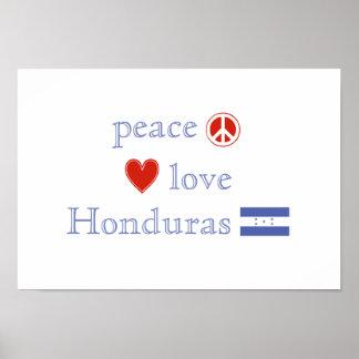 Amor y Honduras de la paz Póster