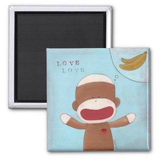 Amor y imán de los plátanos