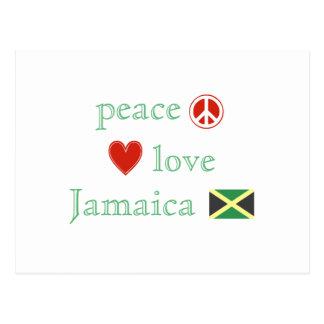 Amor y Jamaica de la paz Postal