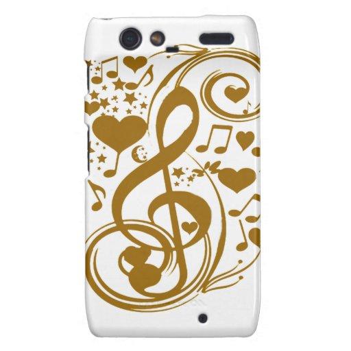 Amor y Joy-Gold_ Motorola Droid RAZR Funda