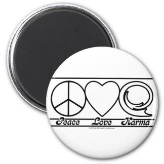 Amor y karmas de la paz imán redondo 5 cm