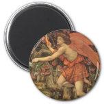 Amor y la doncella por Stanhope, ángel del Imán Redondo 5 Cm