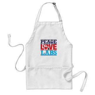 Amor y laboratorios de la paz delantal