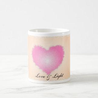 Amor y luz taza básica blanca