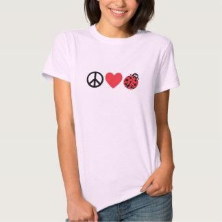 Amor y mariquitas de la paz remeras