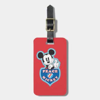 Amor y Mickey de la paz Etiquetas Bolsa