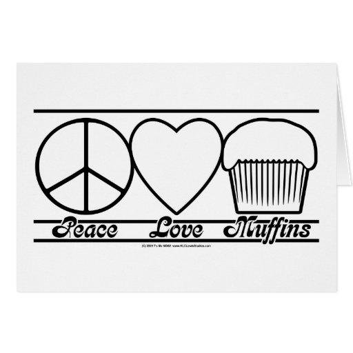 Amor y molletes de la paz felicitacion