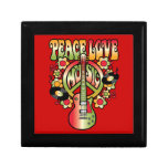 Amor y música de la paz caja de regalo