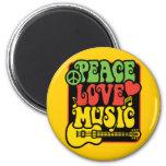 Amor y música de la paz de Rasta Iman De Nevera