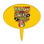 Amor y música de la paz figuras de tarta