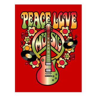 Amor y música de la paz postal