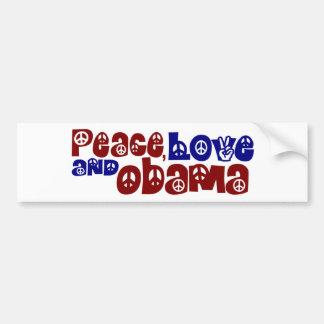Amor y Obama de la paz Pegatina Para Auto