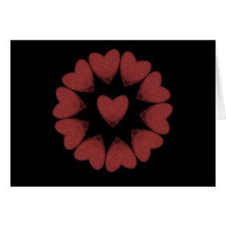 Amor y odio tarjeta de felicitación