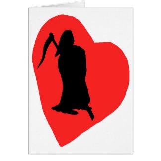 Amor y odio, vida y muerte (2) tarjeta de felicitación