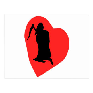 Amor y odio, vida y muerte (2) postal