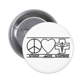 Amor y oficio de enfermera de la paz pins