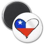 Amor y orgullo chilenos de Te Amo Chile Imán Redondo 5 Cm