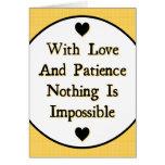 Amor y paciencia felicitaciones