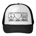 Amor y palomitas de la paz también gorras