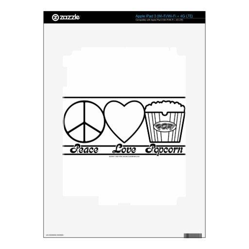 Amor y palomitas de la paz también pegatinas skins para iPad 3