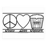 Amor y palomitas de la paz también tarjetas postales