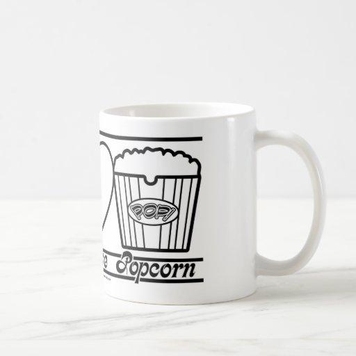 Amor y palomitas de la paz también tazas de café