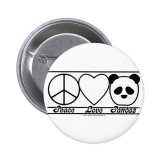 Amor y pandas de la paz pin